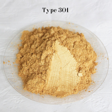 Type 301 Gold  Pigment Pearl powder dye ceramic powder paint coating Automotive Coatings art crafts coloring for leather