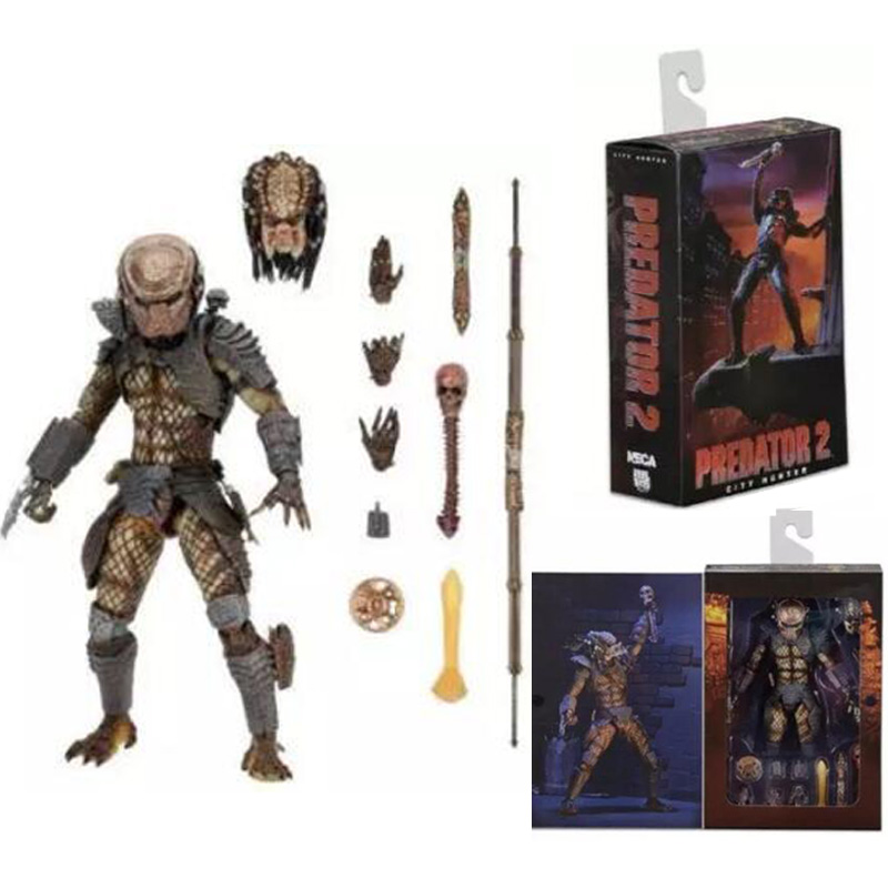 Movie AVP Aliens vs Predator Series Alien Covenant Elder Predator 2 Ctiy Hunter Predators Action Figure Model Toy Free Shipping<br>
