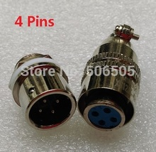 Free shipping 12mm fast connector M12 4pins aviation plug and aviation socket cable joint 2set/lot