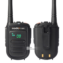 2pcs/lot IRADIO CP-168 Mini Portable Radios 400-480HMz UHF Two Way Radio CB Walkie Talkie Transceiver Handheld Ham Radio Antenna