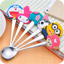 Lovely Print Baby Kids Feeding Spoon High Quality Stainless steel Baby Spoon Flatware  zl006