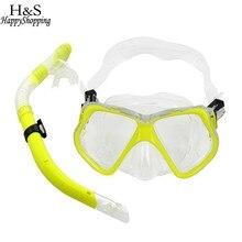 383798bf3 2017 Nova Mar Subaquática mergulho Máscara de Mergulho Snorkel Óculos de  Natação + Dry Snorkel Set