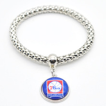 2017 New Basketball Charm Philadelphia Bracelets&Bangle for Women Super Bowl Fans Jewelry