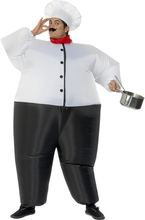 Carnival Cosplay Adult Chub Chef Cook Inflatable Chef Blow Up Color Full Body Fancy Dress Halloween Costume Jumpsuit(China)