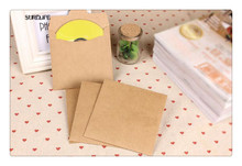 50pcs Kraft Paper CD Case Bag Blank Kraft Envelopes Multicolor Plain Kraft Paper Gifts Bag Party Favor CD/DVD Gifts Storage Bag(China)