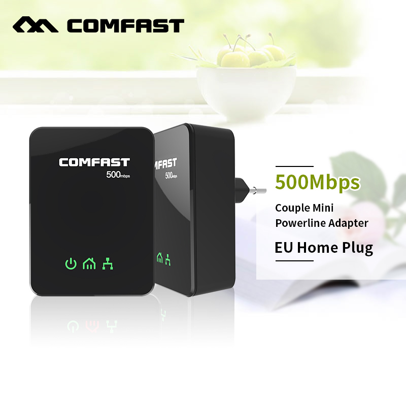 COMFAST CF-WP500M 2.4G network adapter kit portable powerline adapter 500M transmission mini home plug powerline adapter<br>