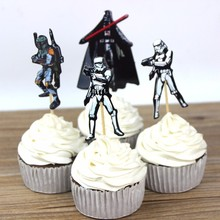 24 pcs The Star Wars Cupcake Toppers Cake Party Decorations Festive Holiday Event And Kids Birthday Party Favors Supply