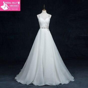 Vestido De Noiva Foto Real Beading Sexy Vintage Wedding Dress A-Line Bridal Dresses Robe De Mariage Dlicate Chiffon MTOB1750