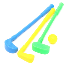 HOT SALE Golf Set Putter Plastic 3 Balls + 2 Tees + 3 golf Cue+ Golf Hole Kids Toy(China)