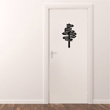 Funny Harry Potter Hogwarts Road Sign Vinyl Door Stickers Creative   Home Decoration Wall Stickers For Kids Rooms  A2277