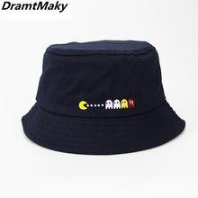 2018 Bordado protector solar hombres mujeres cubo sombrero gorras verano  otoño color sólido pescador Panamá Alta ee0c4b5caf3