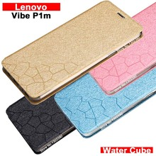 Buy Lenovo vibe P1m case cover leather Water cube pu flip case Lenovo P1m vibe case cover NEW 4 style Lenovo P1m case cover for $5.66 in AliExpress store