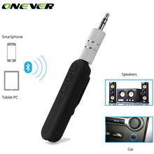 Onever Bluetooth AUX Audio Receiver Universal 3.5mm Wireless Car Kit Music Audio Receiver Adapter with Mic for Speaker Headphone(China)