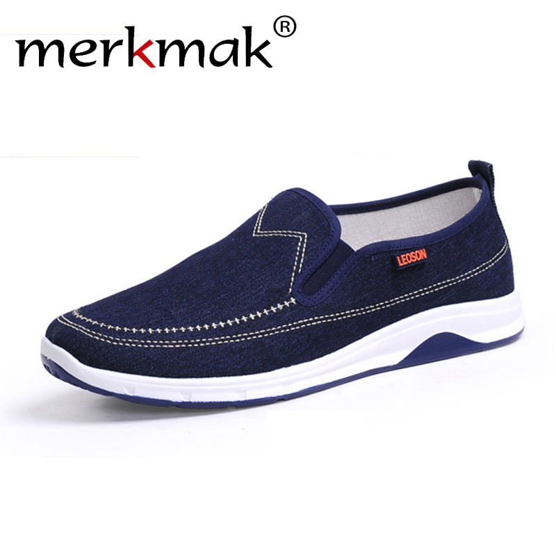 Merkmak Men Summer Casual Canvas Shoes Cheapest Soft Flats Men Canvas Shoes Comfortable Sapatos Masculinos Slip-on Men Loafer<br><br>Aliexpress