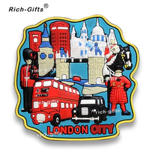 Free Customized OEM/ODM Promotional Gifts With Your Logo Soft Rubber Fridge MagnetsTourist Souvenir London MOQ1000PCS(RC-UK)(China)