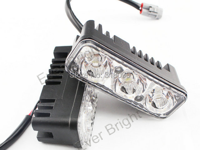 1Pair!! 2014 New Aluminum 6 Led 9W Universal Car Light Source Waterproof DC12V DRL Daytime Running Light Auto Fog Lamp<br><br>Aliexpress