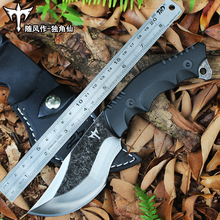 Voltron outdoor knives, wild survival portable straight knife, jungle wilderness knife, self-defense carry knife high hardness