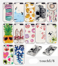 "12 Patterns Soft Case For iPod touch 5 iPod touch 6 Case Silicon 4.0"" Back Cover For iPod touch5 iPod touch6 Shell Skin Capa(China)"