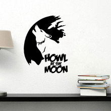 Vinyl Wolf of carved wall stickers Living room bedroom background wall custom stickers Home Decoration animal mural
