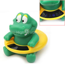 Hot Cute Crocodile Baby Infant Bath Tub Thermometer Water Temperature Tester Toy(China)