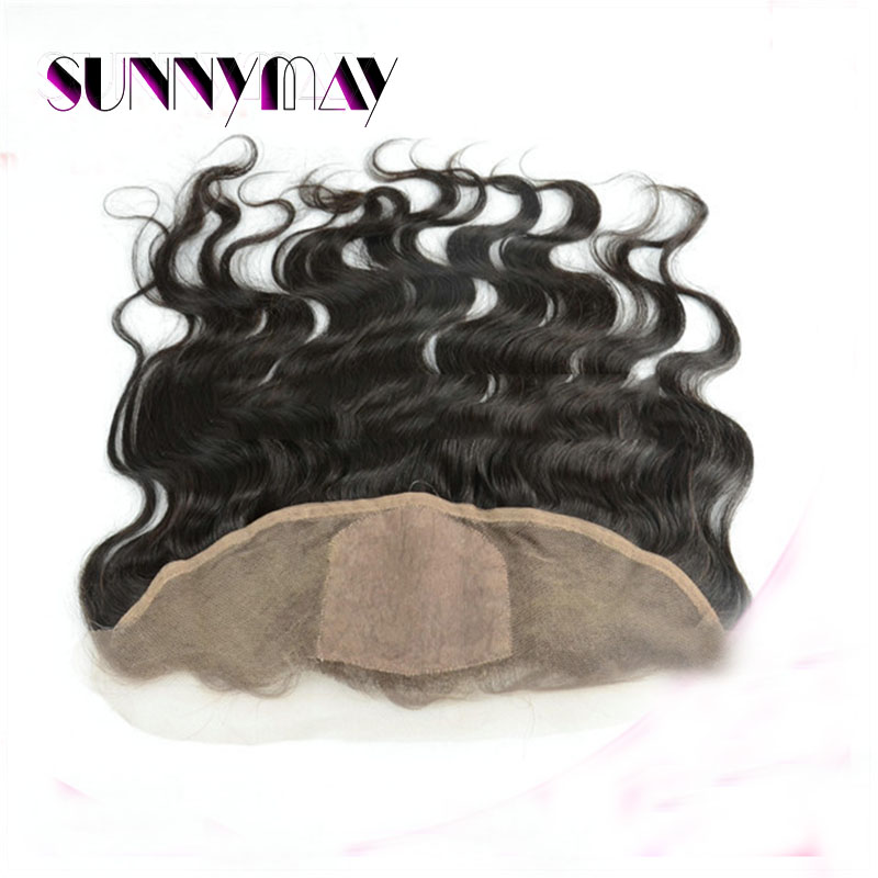 (13x4) Sunnymay Stock 7A Grade Natural Color Brazilian Virgin Hair Body Wave Silk Base Frontal Closure With Natural Hairline<br><br>Aliexpress