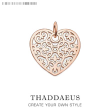 Pendant Rose Heart Ornament,2017 Brand Fashion Eternity Love Jewelry Thomas Bijoux Necklace Accessories Gift For Ts Soul Woman