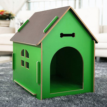Indoor and outdoor Wood Dog House Brand New Pretty Terrace Kennel Small / large Pet Products For Dogs