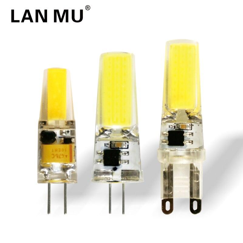 LED G4 G9 Lamp Bulb AC/DC 12V 220V 3W 6W 9W COB SMD LED Lighting Lights replace Halogen Spotlight Chandelier