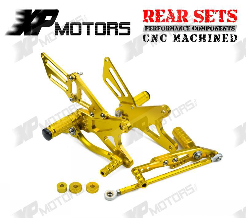 Gold Racing Adjustable Foot pegs Rearset Rear Sets For Yamaha YZF-R1 2009 2010 2011 2012 2013 2014 YZF-R1 LE 2009 2010 2011 2012<br><br>Aliexpress