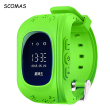 SCOMAS Q50 Smart Wrist Watch with Anti-lost GPS Tracker SOS Call Location Smart Watch Phone for Children SIM Card Wathes for Kid(China)