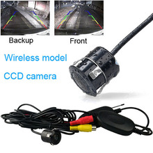 Russian shipment Fochtech Wired / Wireless Rearview Night Vision PAL 170 Wide Angle Waterproof Car rear view camera(China)