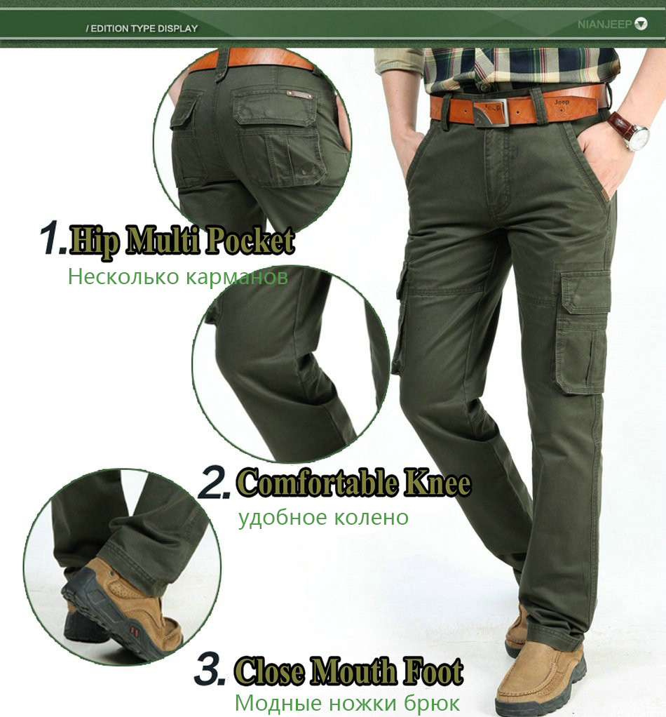 17 Brand Mens fashion Military Cargo Pants Multi-pockets Baggy Men Pants Casual Trousers Overalls Army Pants Joggers 2155 4