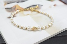 2017 Promotion New Tin Classic Rolo Chain Wholesale Crystal from Swarovski For Women Jewelry Love Beads Charm Bracelet Woman(China)