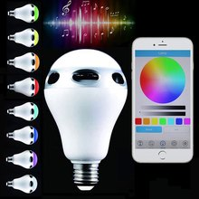 Lightme E26 E27 Smart LED Bulb Colorful Intelligent LED Light Bluetooth Speaker Wireless Color Changing RC Control Light Bulbs