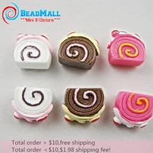 Min order $10 kawaii scrapbook Resin Cute Cherry cream cake colors crafts Flatback Cabochon 50pcs 7*10*12mm Free shipping DIY068