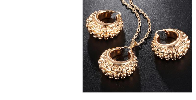 AYAYOO African Beads Jewelry Set Gold Costume Dubai Luxury Bridal Jewelry Sets For Women Statement Vintage Necklace Set  (5)