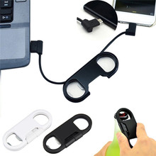 3 in 1 USB Charger Charging Cable For Android&iPhone + Key Chain + Bottle Opener(China)