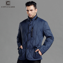 CITY CLASS Spring Autumn Mens Casual Coats Jacket Business Leisure Slim Fit Stand Collar Fashion Elbow patch Outwears 14424(China)