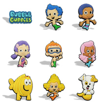 9pcs/lot Bubble Guppies Blackboard Magnetic Stickers PVC Fridge Magnets, Kids Gifts Toys Party Favor Office School Supplies