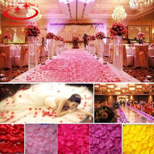 1000Pcs/Lot 21 Colors Silk Rose Petals Leaves Artificial Flowers Petals Wedding Decoration Party Decor Festival Table Decor(China)
