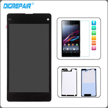 Buy Black Sony Xperia Z1 Mini Compact D5503 LCD Display Monitor Panel Touch Screen Digitizer Assembly+Tempered Glass+Glue for $26.10 in AliExpress store