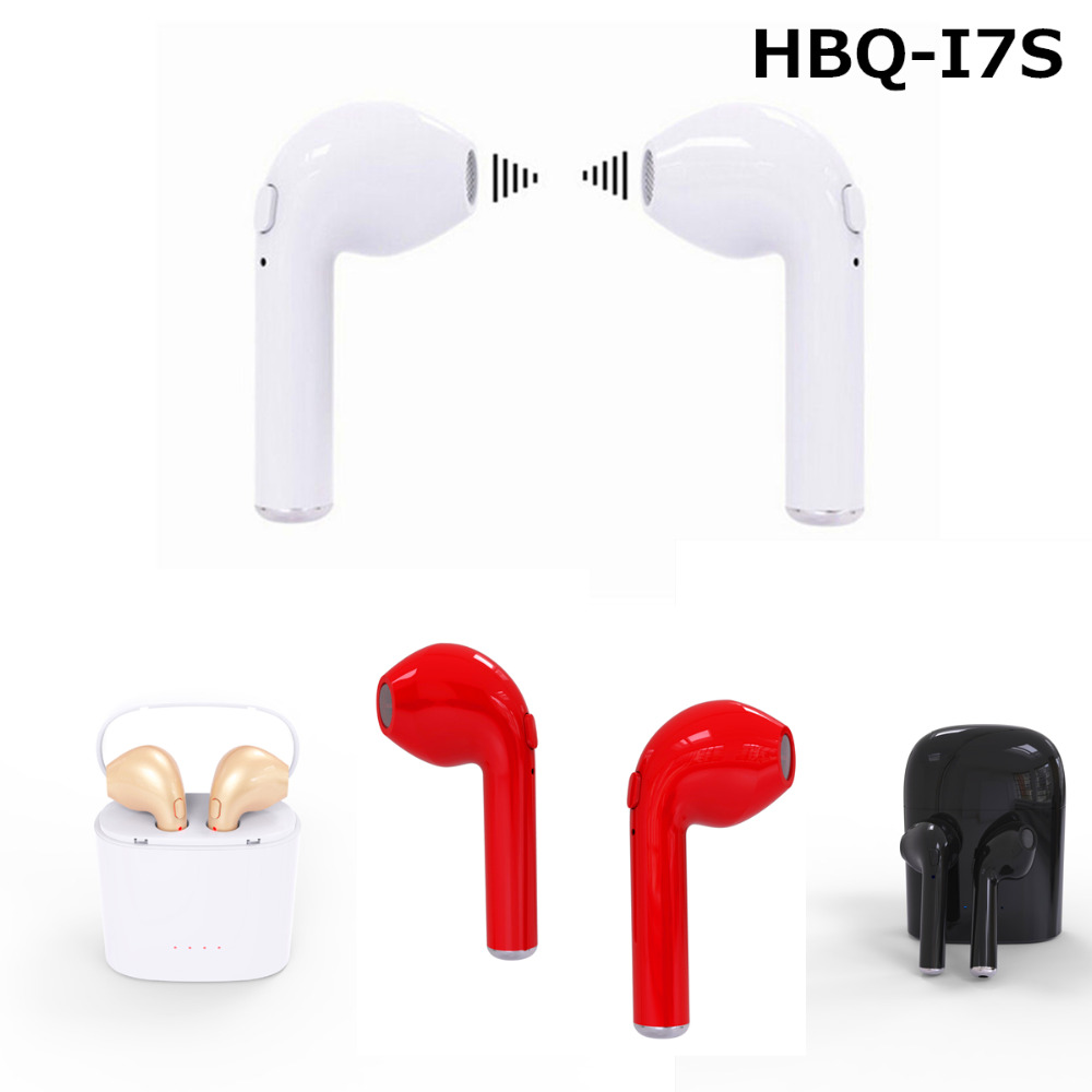 Mini HBQ I7S TWS Earbuds Wireless Bluetooth Double Earphones Twins Earpieces Stereo Music Headset Apple iPhone 8 8 Plus