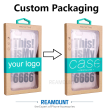 200 pcs High Class Customize LOGO Kraft Paper Packaging Box for iPhone 7 7 plus with Inner Tray for Samsung S6 Phone Back Cover