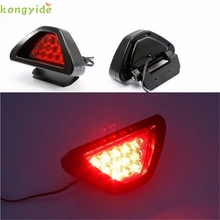 High Quality car-styling,car-detector,  Universal F1 Style 12 LED Red Rear Tail Third Brake Stop Safety Lamp Light Car led f1