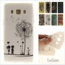 Cartoon Tiger Lion Glossy Soft TPU Silicon Back Cover Protective Mobile phone Case for Samsung Galaxy J7 2016 J710 J702