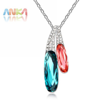 Best Selling Drop Women Crystal Necklace National Style Various Color Main Stone Crystals from Austrian Mother's Day gift #94826(China)