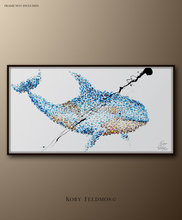 Large Free Shipping Handpainted Oil Painting On Canvas Lovely Fish Oil Painting Abstract Modern Canvas Wall Art no Framed(China)