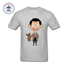 2017 Funny Hip Hop Printed Funny Mr. Bean Latest Cotton Funny T Shirt for men(China)