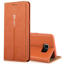 S6 Edge Case ! Luxury Original Brand GEBEI Leather Flip Unique Magnet Design Stand Case Cover For Samsung Galaxy S6 edge