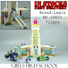 Lepin 29001 712Pcs Girl Series The Super Hero High School Set Children Educational Building Blocks Brick Toys ModelGifts 41232(China)